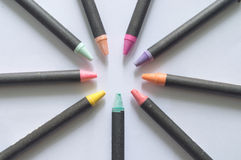 Crayons lying Royalty Free Stock Photography