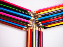 Crayons. Many painting is beautiful with crayons Stock Image