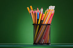 Crayons and markers Royalty Free Stock Image