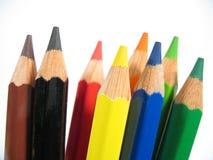 crayons mig som är upprätt Royaltyfria Foton