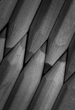 Crayons - monochrome Photographie stock