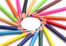 Crayons multi de couleur Images libres de droits