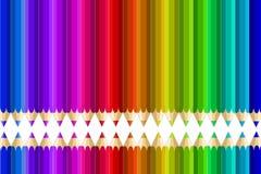 Crayons multi de couleur Image libre de droits