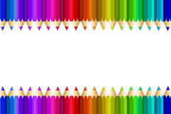 Crayons multi de couleur Photographie stock libre de droits
