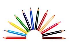Crayons multicolores photographie stock libre de droits