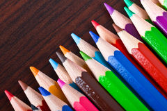 Crayons multicolores Photos stock