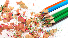 Crayons multicolores Photographie stock