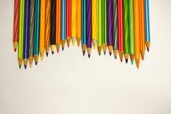 Crayons multicolores Photos libres de droits