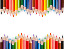 crayons multicolores Images stock