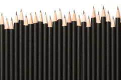 Crayons noirs de graphite Photo stock