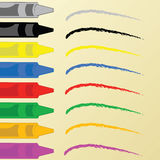 Crayons and paper Royalty Free Stock Images