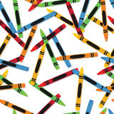 Crayons Pattern Stock Photo