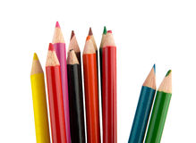 Crayons pencils Stock Images