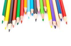 Crayons pointus colorés Photographie stock libre de droits