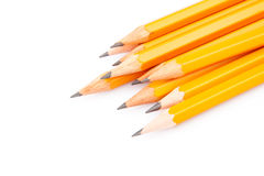 Crayons pointus en bois Image stock