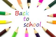 Crayons pour de nouveau à l'école Photographie stock