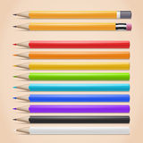 Crayons réalistes Image stock