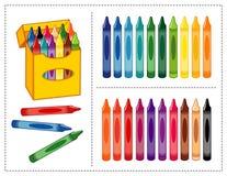 Crayons réglés Photo libre de droits