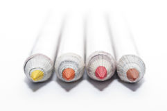 Crayons réutilisés Images libres de droits