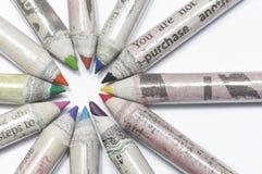 Crayons réutilisés Photographie stock libre de droits