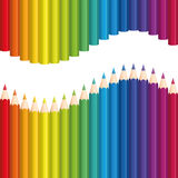 Crayons Rainbow Colored Pencils Wave Seamless Stock Images