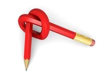 Crayons rouges Images libres de droits