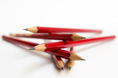 Crayons rouges Photos libres de droits