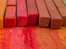 Crayons rouges Photo libre de droits