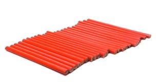 Crayons rouges Photographie stock libre de droits
