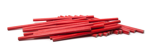 Crayons rouges Photo stock