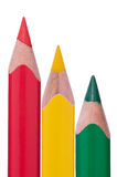 Crayons rouges de vert jaune Image stock
