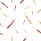 Crayons rouges et jaunes Photo libre de droits