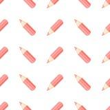 Crayons rouges sur le blanc illustration libre de droits