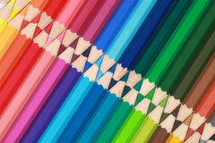 Crayons in a row Royalty Free Stock Image