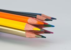 Crayons for school,drawing accessories,office supplies Royalty Free Stock Photography