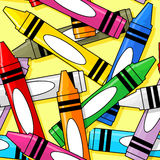 Crayons seamless pattern Stock Photography