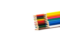 Set of crayons isolated on white background Royalty Free Stock Images