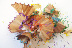 Crayons shavings Royalty Free Stock Photo