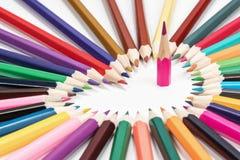 Crayons sous forme de coeur Photographie stock