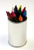 Crayons sur la vue extérieure en acier Photos stock