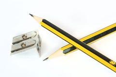 Crayons sur le blanc Images stock