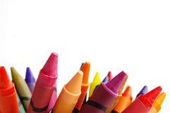 Crayons sur le blanc Image libre de droits