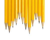 Crayons sur le blanc Photos libres de droits