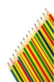 Crayons sur le blanc. image libre de droits