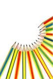 Crayons sur le blanc. photographie stock libre de droits