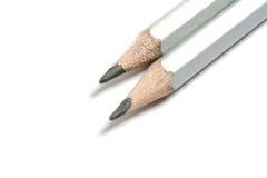 Crayons sur le fond blanc Photographie stock libre de droits
