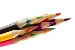 Crayons sur un fond blanc Images stock