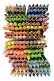 Crayons (Top View) Royalty Free Stock Photography