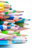 Crayons tops Stock Photography