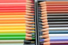 Crayons tous neufs de couleur Images libres de droits